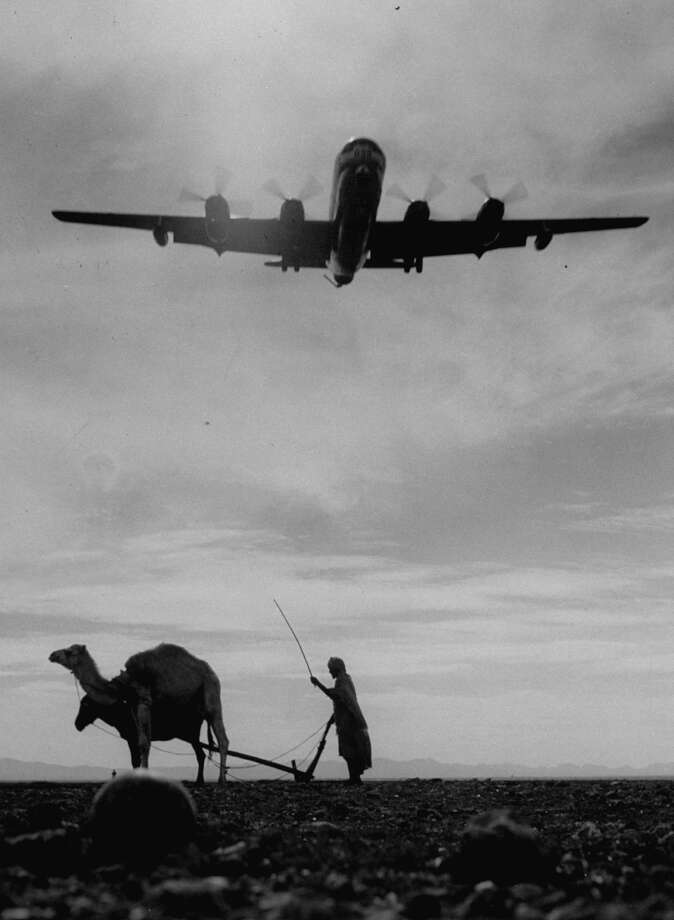 """Boeing added: """"(B)ecause they extended the range of bombers and fighters, the KC-97  tankers became crucial to (Strategic Air Command) operations."""" Photo: Loomis Dean, Time & Life Pictures/Getty Image / Time Life Pictures"""