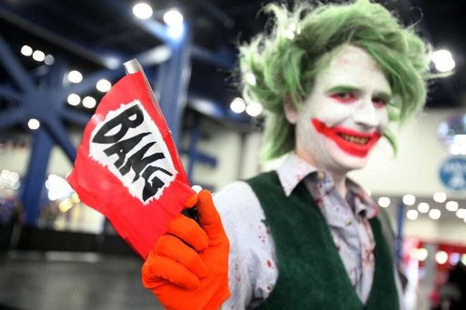 Audrey Lovelace dressed up at Joker during the ComicPalooza.