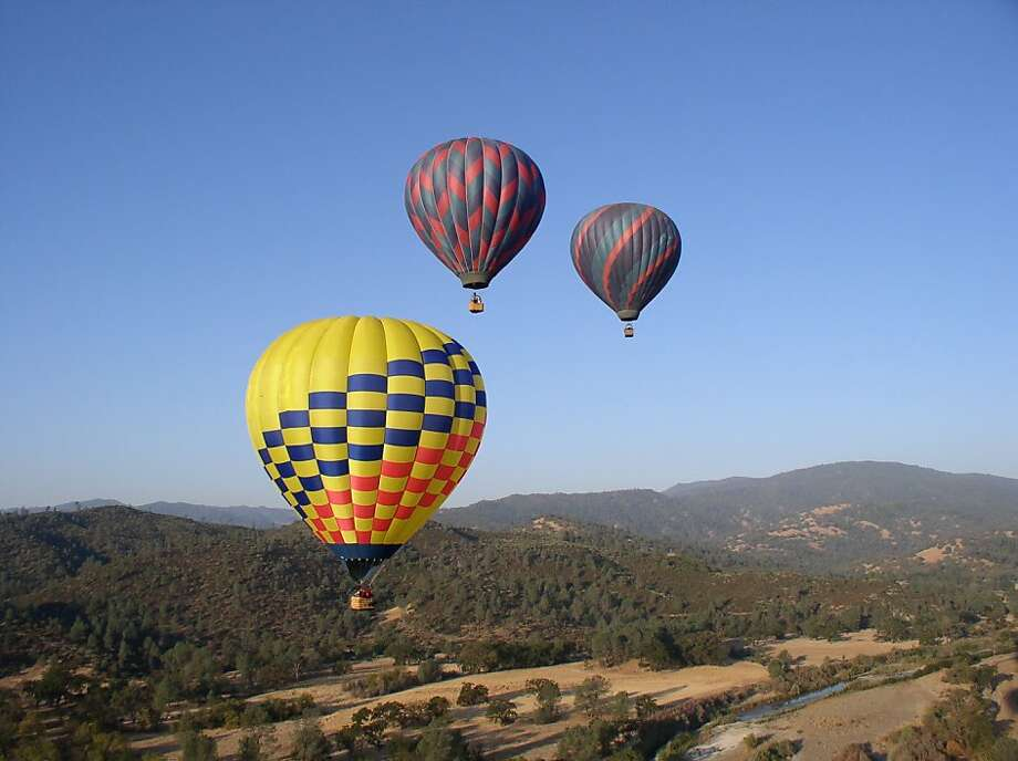 A file photo of hot-air balloons. Four parachutists who jumped out of a hot-air balloon in Santa Rosa may have broken federal laws, according to the CHP. Photo: Sonoma County Tourism