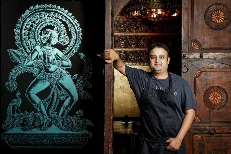 Before opening his restaurant, Ambrosia, Rikesh Patel, a graphic designer by trade, had no experience in the restaurant industry, as a chef or otherwise. Photo: Michael Paulsen, Staff / © 2013 Houston Chronicle