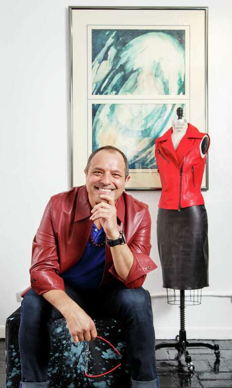 Mexican designer José Sanchez specializes in high-fashion leather and furs designs for both men and women. Photo: Michael Paulsen, Staff / © 2013 Houston Chronicle