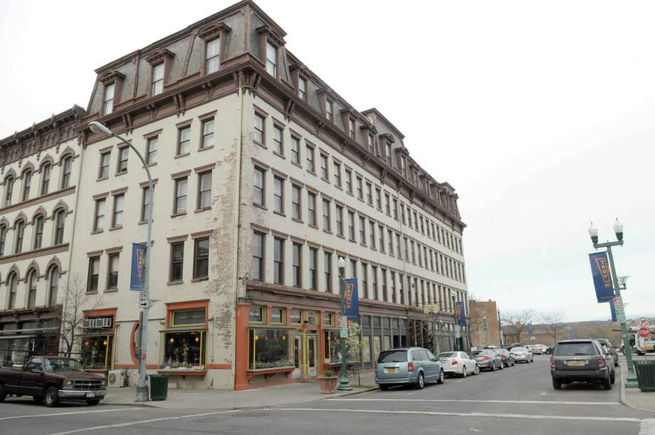 A view of the Cannon Building on Broadway in downtown Troy on Tuesday, April 10, 2012.  (Paul Buckowski / Times Union) Photo: Paul Buckowski / 00017156A