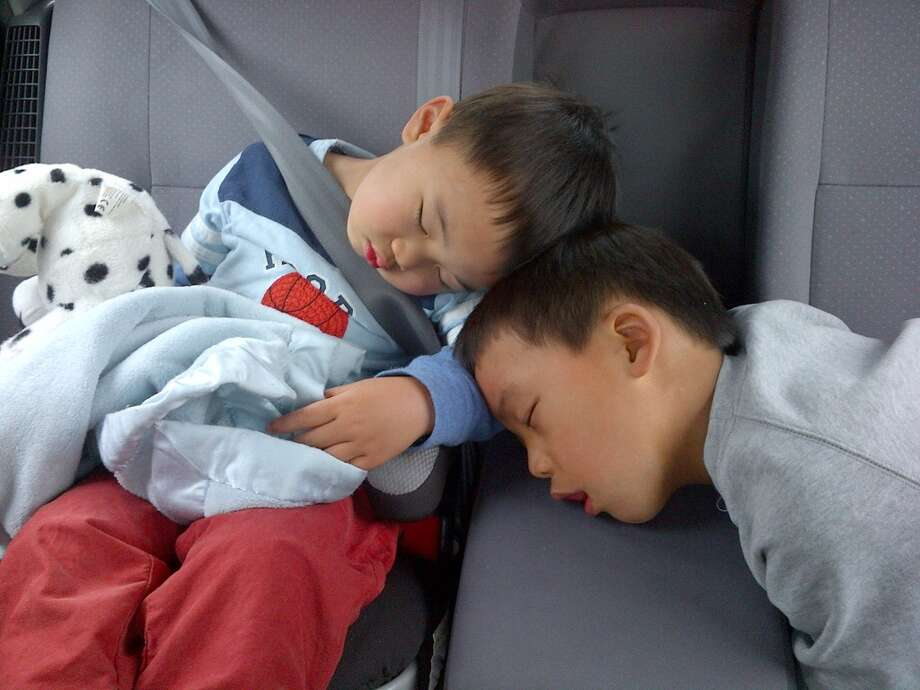 Crashed in the car. Photo: Hai-ping-kenneth-chao