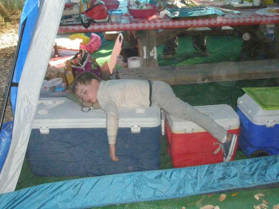 Asleep on the job. Photo: Eric-christensen