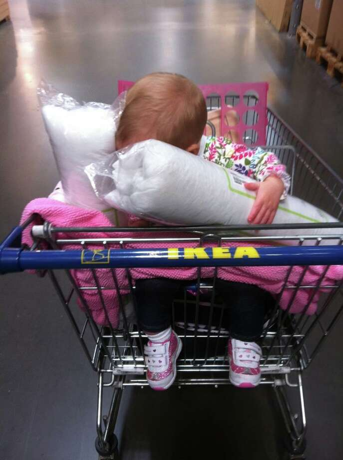Ikea shopping puts this girl right to sleep. Photo: Melissa-gross