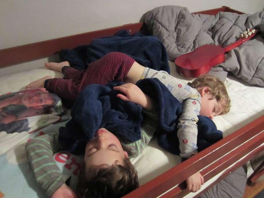 Cuddling brothers. Photo: Patty-ryan