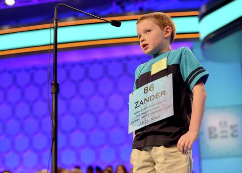 Zander Reed of Ankeny, Iowa, competes in the second round of the 2013 Scripps National Spelling Bee. Photo: Chuck Myers, McClatchy-Tribune News Service / MCT