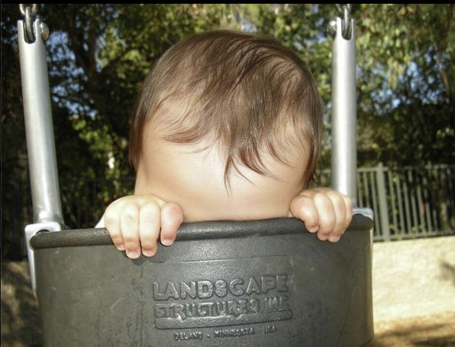 Asleep in the swing. Photo: Michelle-wohl