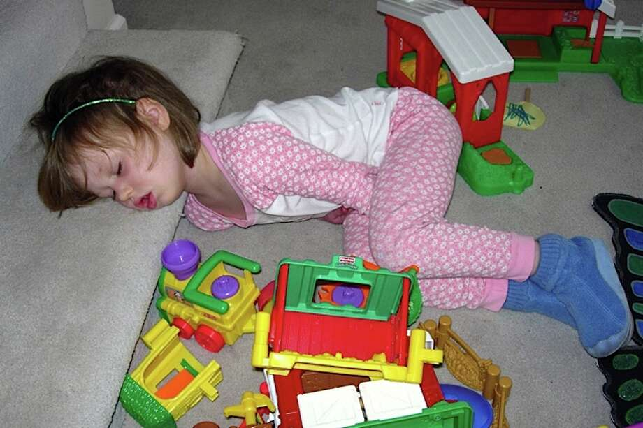 Play time tired this one out! Photo: Newman-erin