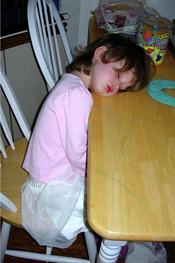 Zonked out at the table. Photo: Newman-erin