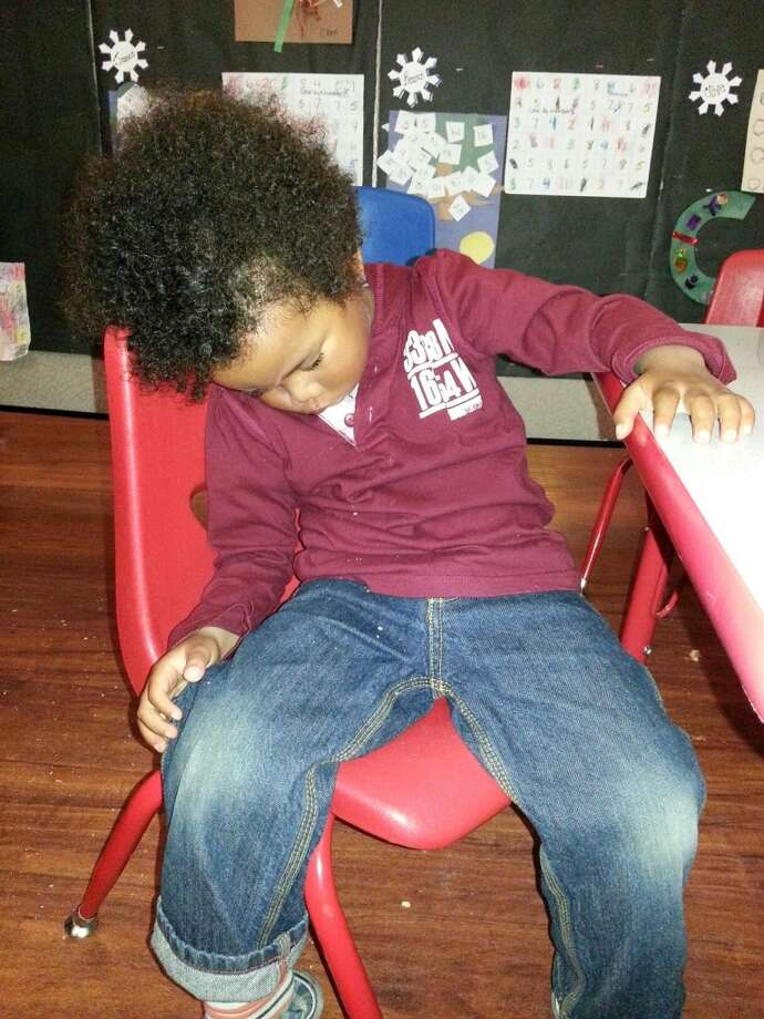 Asleep at preschool. Photo: Carolyn-a-sideco