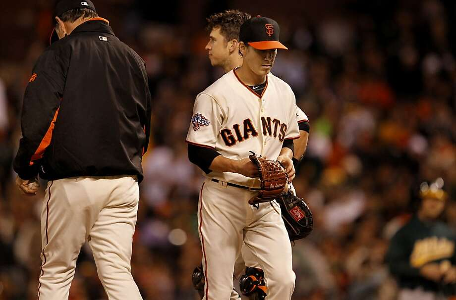The Giants' brain trust is scratching its collective head over the Lincecum dilemma. Photo: Brant Ward, The Chronicle