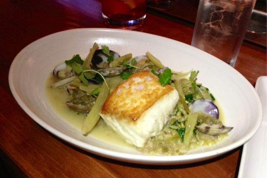 Halibut ($25)  with fennel, clams and farro