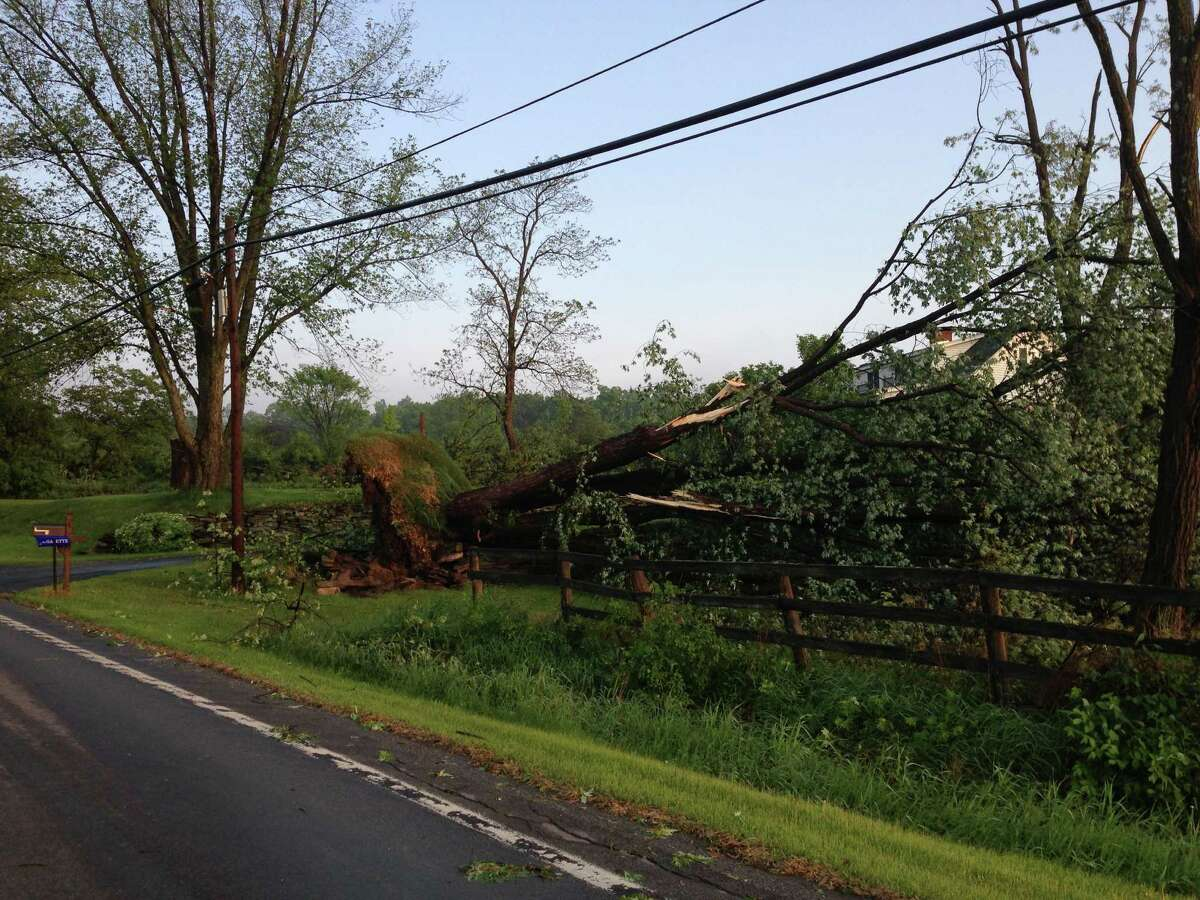 Damage in Scotia-Glenville after severe weather hit the Capital Region on Wednesday, May 29, 2013. (Mike Falzano)