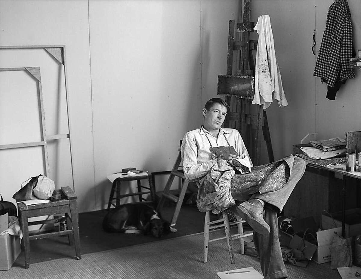 Rose Mandel, Richard Diebenkorn, 1956. Digital scan from original negative. Copyright Rose Mandel Archive/All Rights Reserved