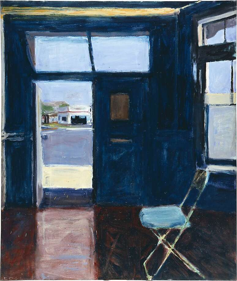"Richard Diebenkorn's ""Interior With Doorway"" (1962), oil on canvas. Photo: De Young Museum"