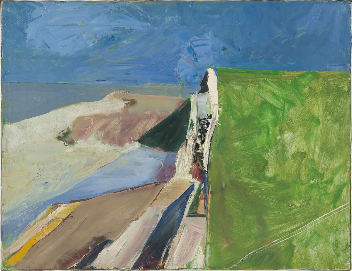 Richard Diebenkorn (1922-1993), Seawall, 1957 Oil on canvas 20 x 26 in. (50.8 x 66 cm) Fine Arts Museums of San Francisco, gift of Phyllis G. Diebenkorn, 1995.96 © 2013 The Richard Diebenkorn Foundation. All rights reserved.