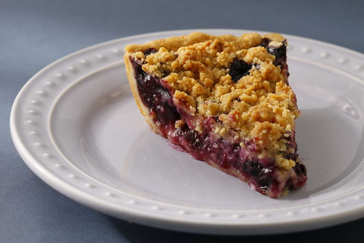 Blueberry pie as seen in San Francisco, California, on May 1, 2013. Food styled by Janny Hu.