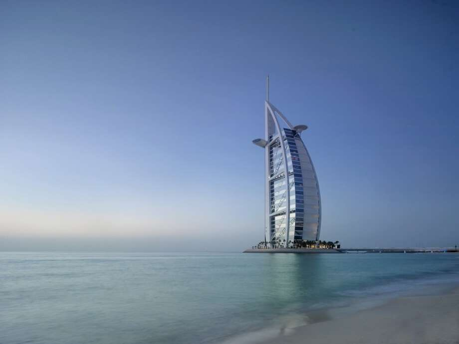 It's the fourth-tallest hotel in the world, and it's known for its sail-like shape.Source: Business Insider Photo: Business Insider