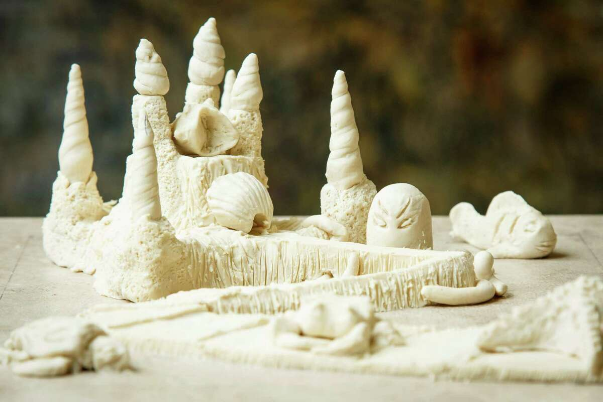 The clay sand castle model named