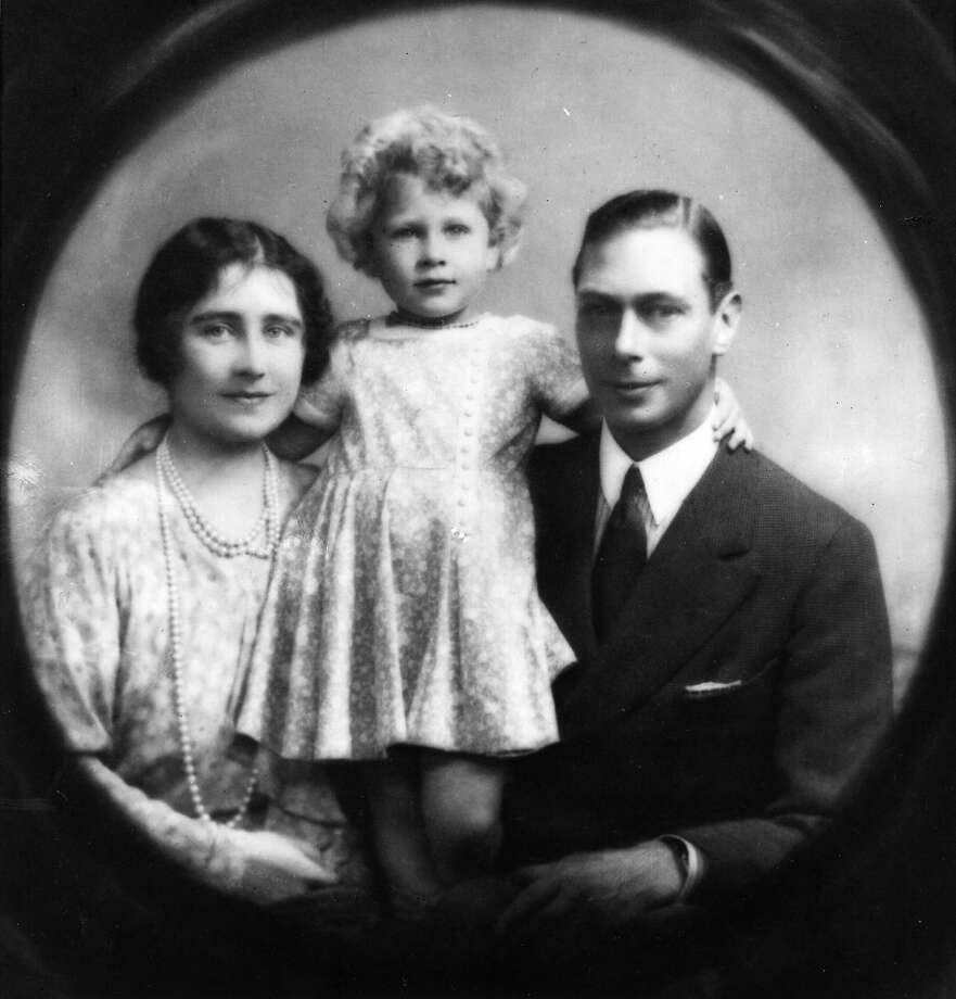 Future King and Queen George, Duke and Elizabeth Angela, Duchess of York, with future Queen, Princess Elizabeth in 1929. Photo: Hulton Archive, Getty Images / Hulton Royals Collection