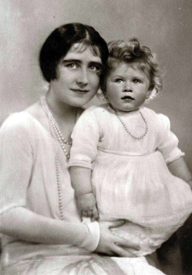 British Royalty The Queen mother pictured when she was HRH the Duchess of York with her daughter Princess Elizabeth, June 1927. Photo: Bob Thomas/Popperfoto, Popperfoto/Getty Images / Popperfoto