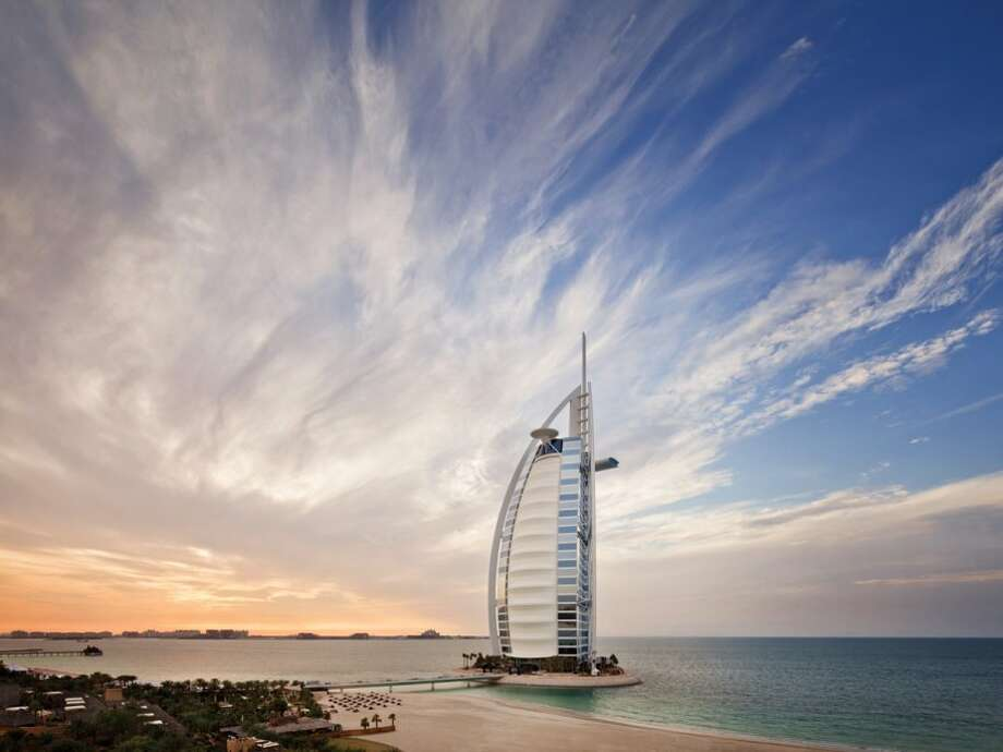 It's the fourth-tallest hotel in the world, and it's known for its sail-like shape.Source:Business Insider Photo: Business Insider
