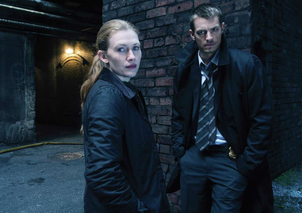 """Mireille Enos and Stephen Holder star in """"The Killing."""""""