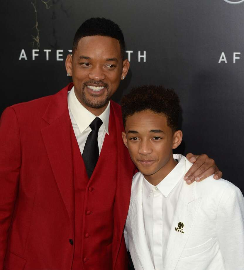 "NEW YORK, NY - MAY 29:  Actors Will Smith and Jaden Smith attend the ""After Earth"" premiere at Ziegfeld Theater on May 29, 2013 in New York City.  (Photo by Andrew H. Walker/Getty Images)"