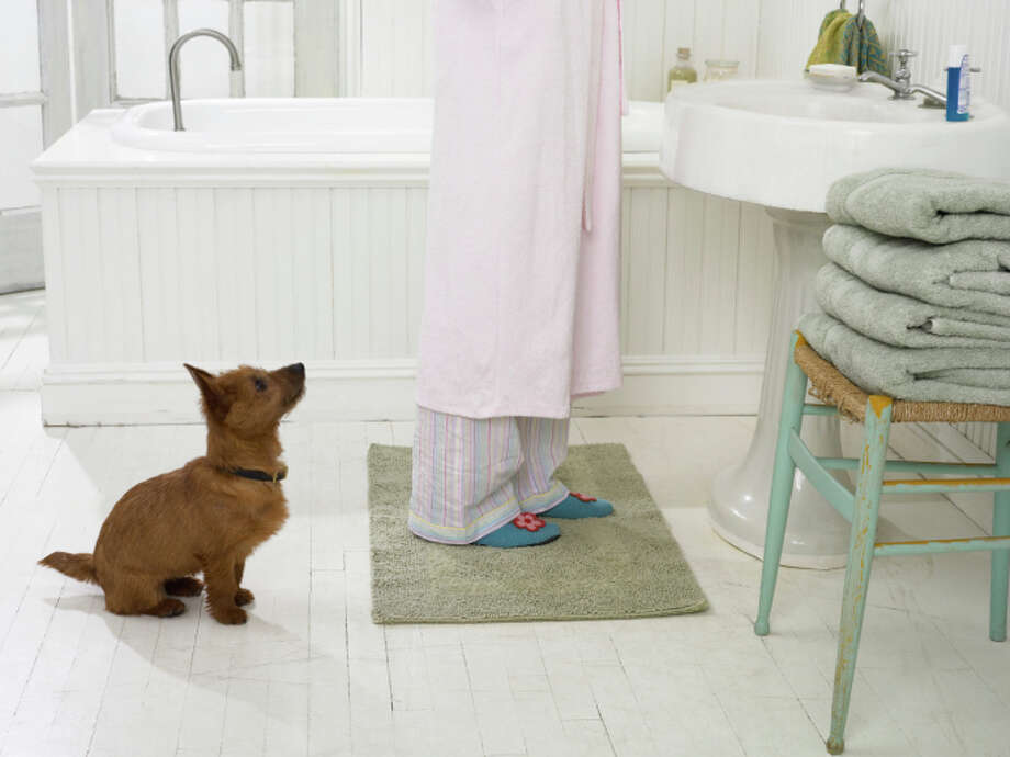 If your bathroom sees heavy foot traffic, the bath mat may need to be washed weekly. Smart shopping tip: Increase the time between washes by purchasing a reversible bath mat. Photo: Digital Vision., Getty Images / (c) Digital Vision.