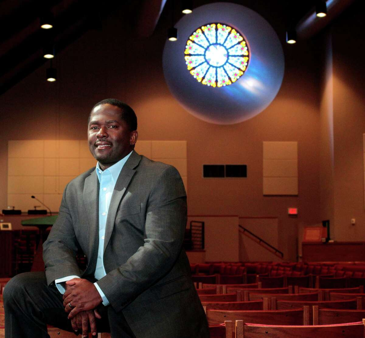 The Rev. Emmanuel Jackson is widely credited with getting people back in the pews at Living Word Lutheran Church in Katy.