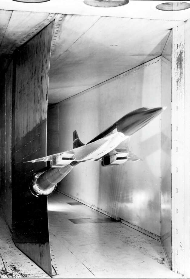 A Concorde model is tested in a wind tunnel at the Royal Aircraft Establishment, in Bedford, England, in 1962. Photo: Science & Society Picture Librar, SSPL Via Getty Images / Please read our licence terms. All digital images must be destroyed unless otherwise agreed in writing.