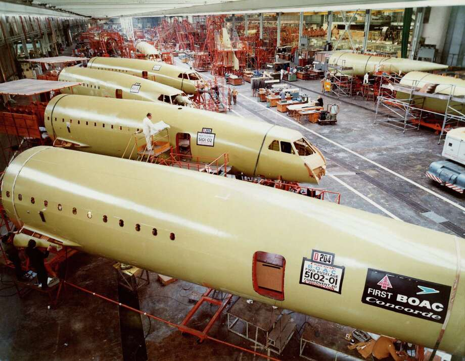 Concorde assembly is shown in the British Aircraft Corporation factory at Filton, near Bristol, England, circa 1975. Photo: Science & Society Picture Librar, SSPL Via Getty Images / SSPL/Science Museum