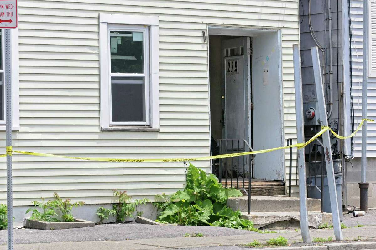 Home at 279 Sherman St. where a body was found on Thursday, May 30, 2013 in Albany, N.Y. (Lori Van Buren / Times Union)
