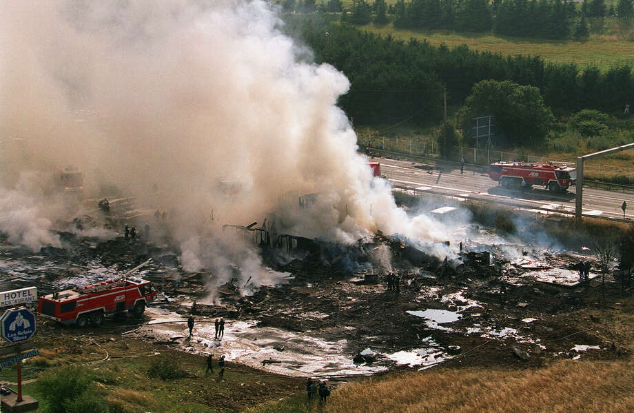 The Concorde's only fatal accident occurred on July 25, 2000, when an Air France Concorde crashed just after takeoff from Paris, killing all 109 people aboard and four on the ground. Photo: AFP, AFP/Getty Images / 2003 AFP