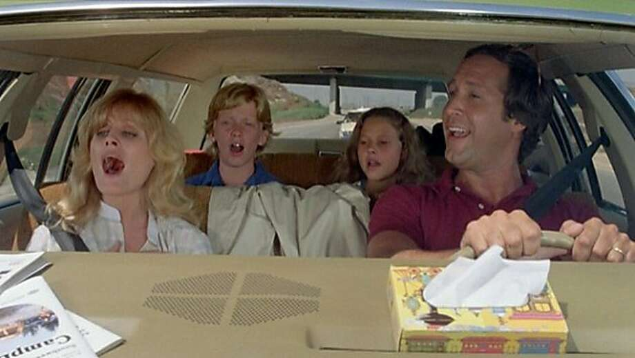 "Beverly D'Angelo (left), Anthony Michael Hall, Dana Barron and Chevy Chase star in ""National Lampoon's Vacation."" Photo: Warner Bros. 1983"