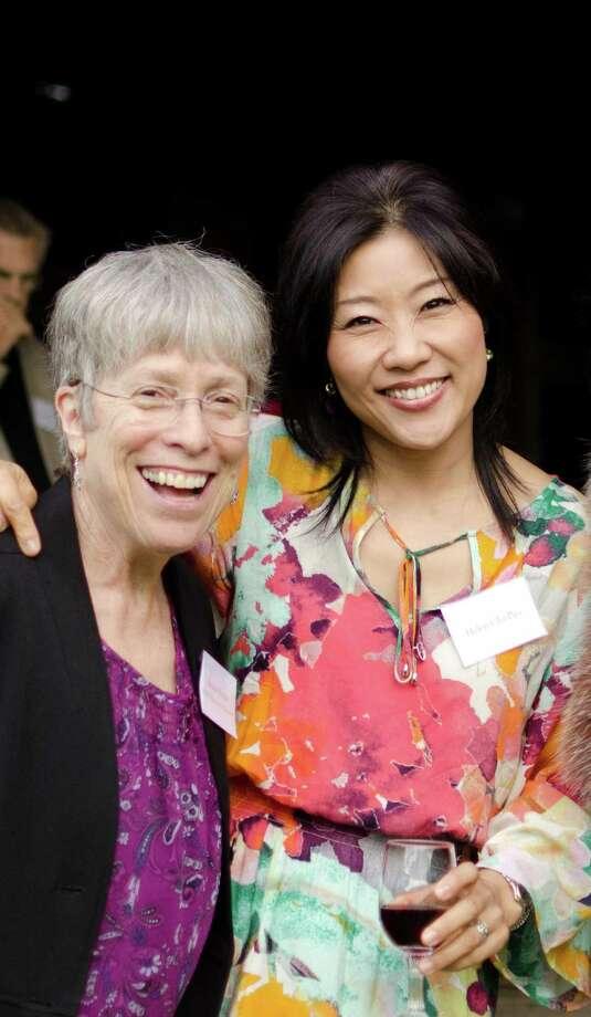 Susan G. Brome with ESYO music director Helen Cha-Pyo (Courtesy ESYO) Photo: Chuck Brome / © 2012 Chuck Brome