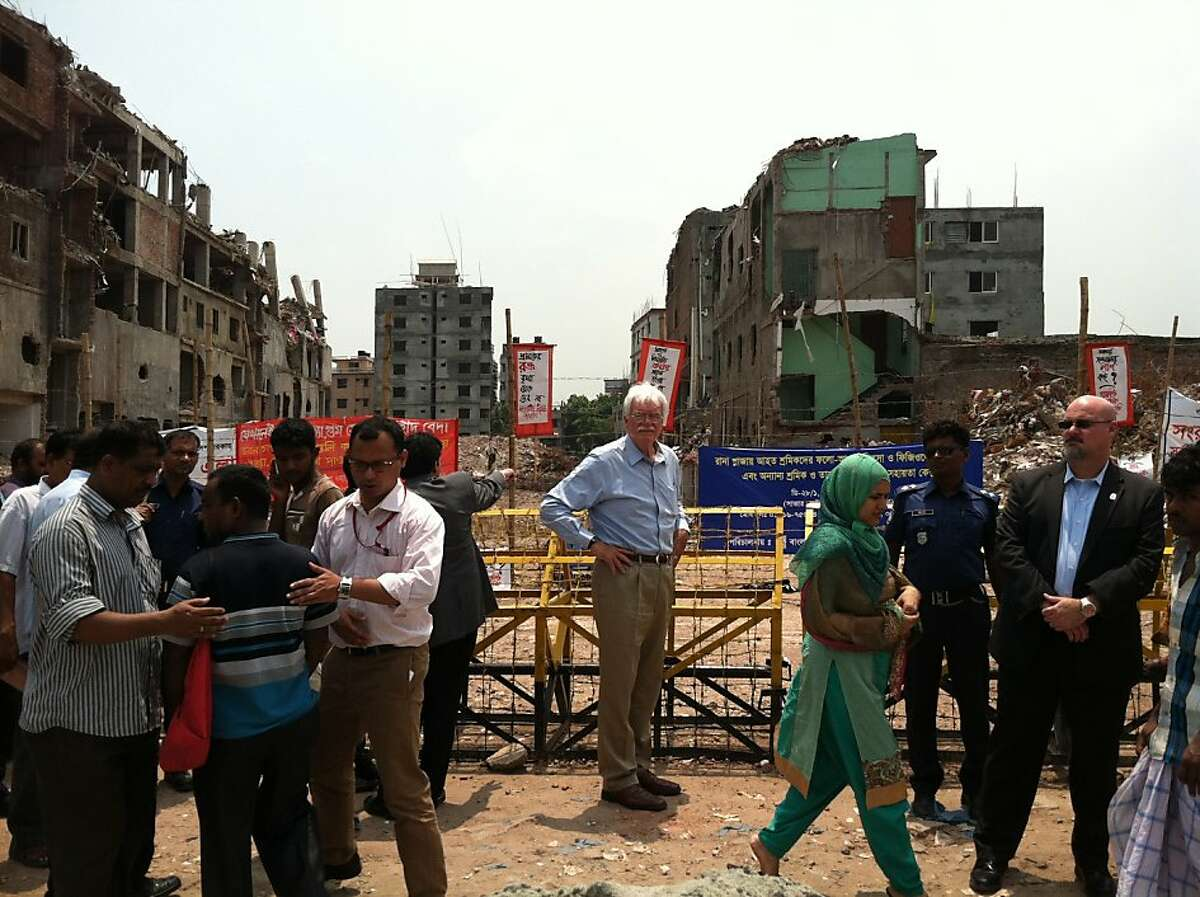 Miller visits site of Rana Plaza, where more than 1,100 garment workers died in April in one of the worst industrial tragedies in history.