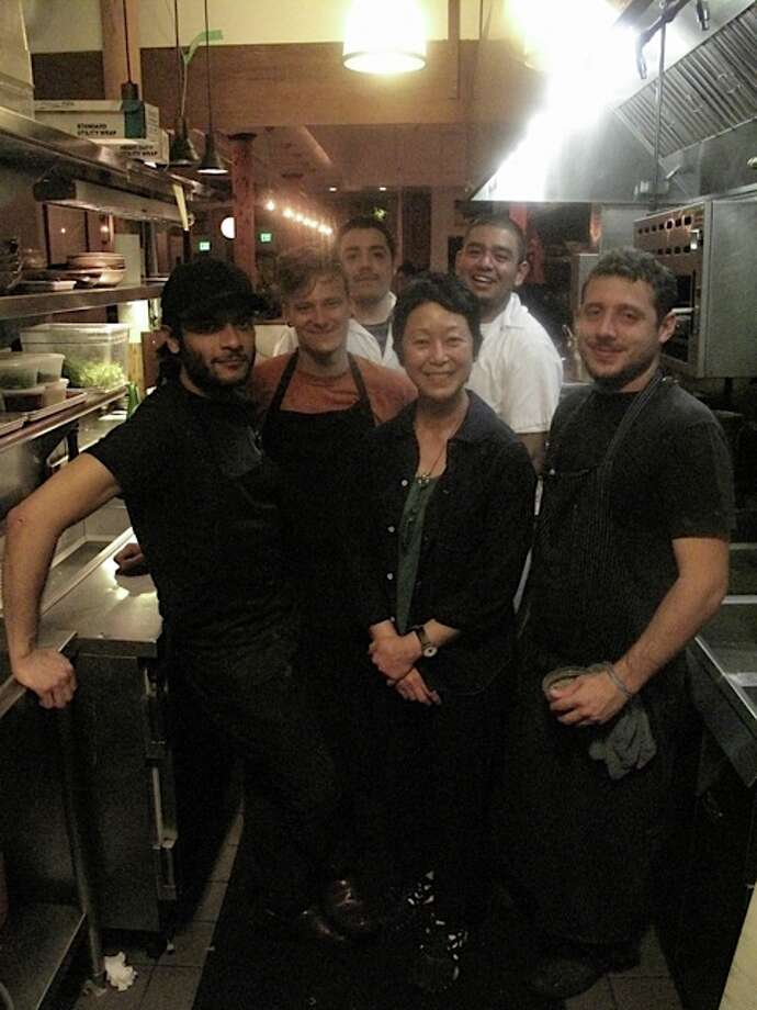 Sonoko Sakai (center) with the Bar Tartine kitchen crew.