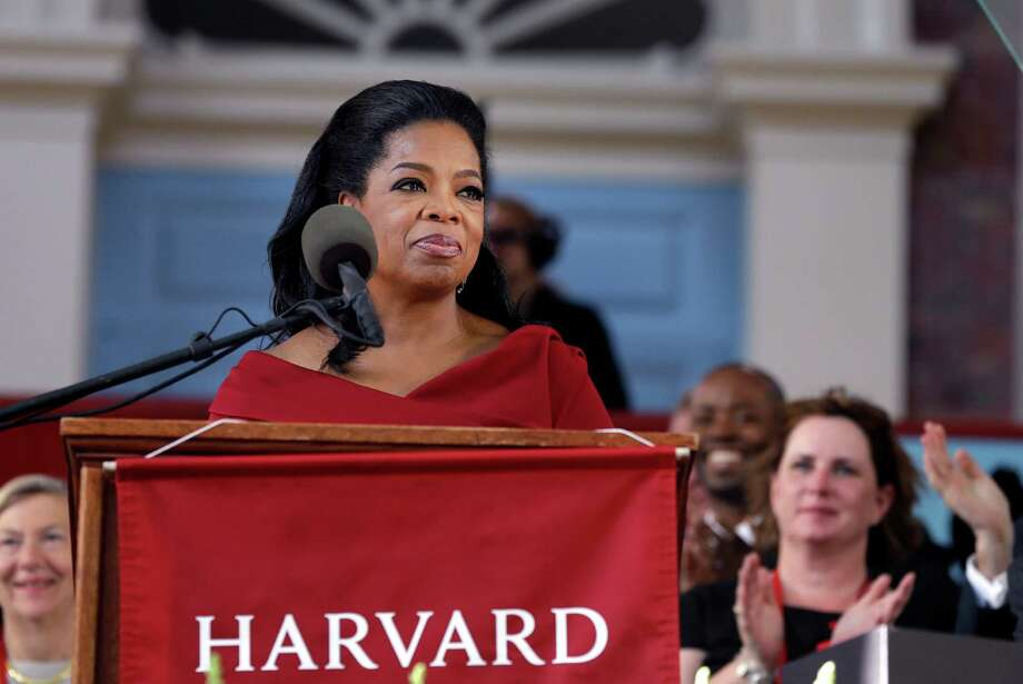 No. 1: Harvard University, which has held top rank year after year. Shown here is Oprah Winfrey during Harvard University's commencement ceremonies in Cambridge, Mass., on May 30, 2013. Photo: Elise Amendola