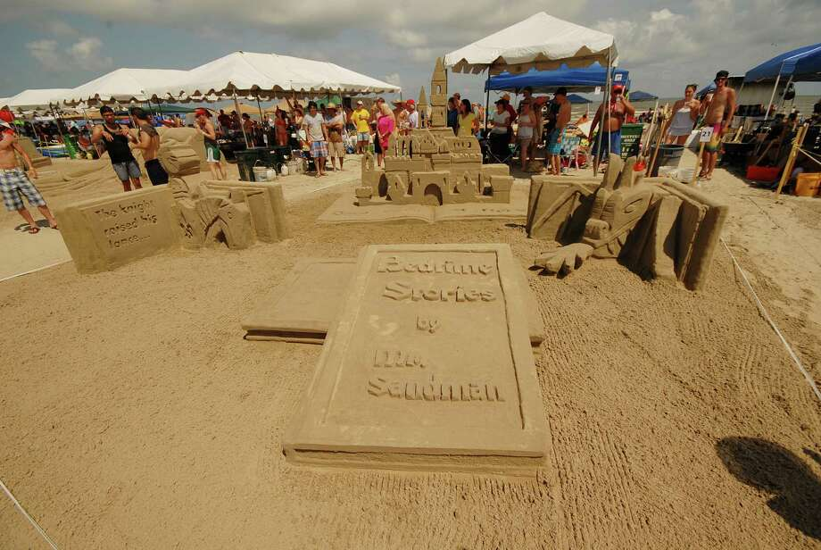 """Matrix Spencer Architects won the Gold Bucket (first place) with its """"Bedtime Stories by Mr. Sandman"""" in the 2012 AIA SandCastle competition in Galveston. Photo: William Hebel"""