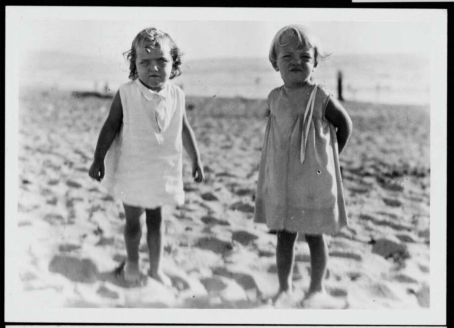 Norma Jeane Baker (right), future film star Marilyn Monroe (1926 - 1962), on the beach as a small child, circa 1930. (Photo by Silver Screen Collection/Hulton Archive/Getty Images) Photo: Silver Screen Collection, Multiple / 2006 Getty Images
