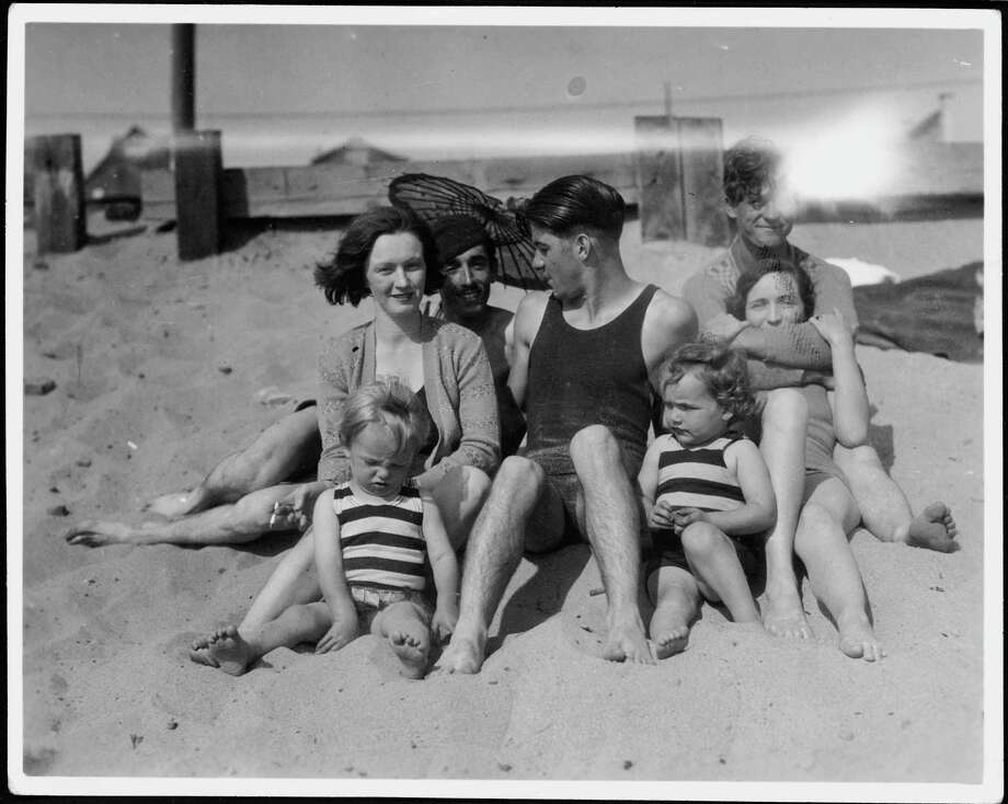 Norma Jeane Baker (bottom left) future film star Marilyn Monroe (1926 - 1962), on the beach as a toddler with her mother Gladys Baker and a group of friends, circa 1929. (Photo by Silver Screen Collection/Hulton Archive/Getty Images) Photo: Silver Screen Collection, Multiple / 2006 Getty Images
