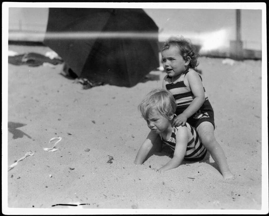 Norma Jeane Baker (bottom), future film star Marilyn Monroe (1926 - 1962), on the beach as a toddler, circa 1929. (Photo by Silver Screen Collection/Hulton Archive/Getty Images) Photo: Silver Screen Collection, Multiple / 2006 Getty Images