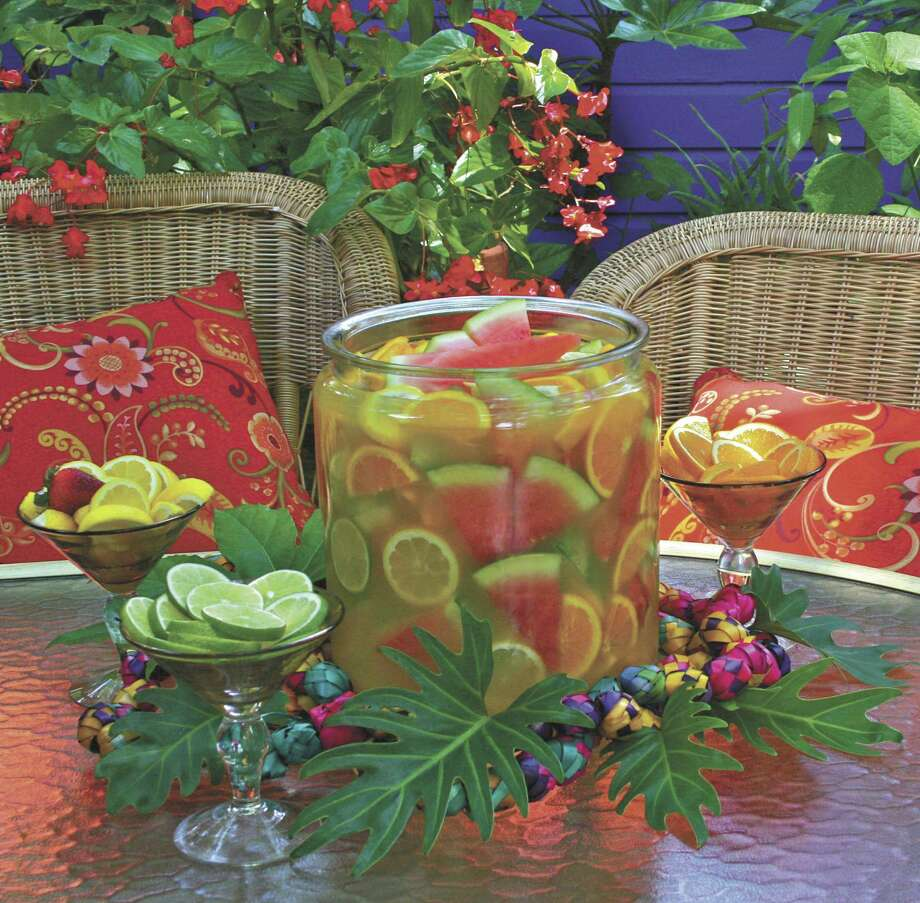 Ponche de Guadalajara is a colorful tequila-based punch to serve at a party.