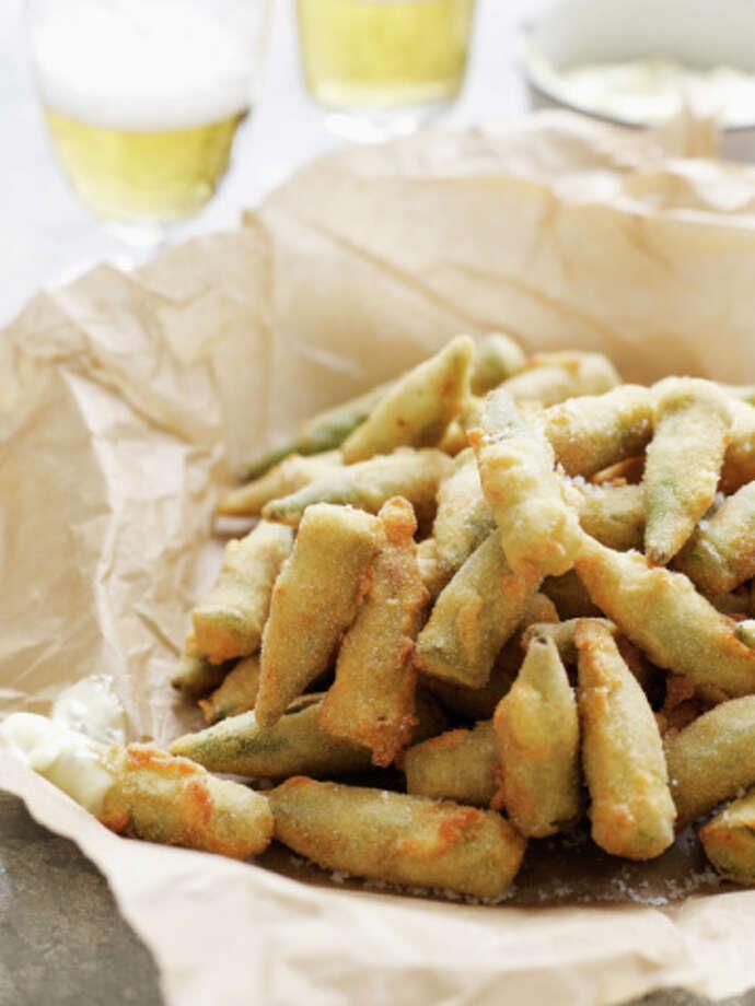 Oklahoma State meal: Fried okra Photo: Alexandra Grablewski, Getty Images / (c) Alexandra Grablewski