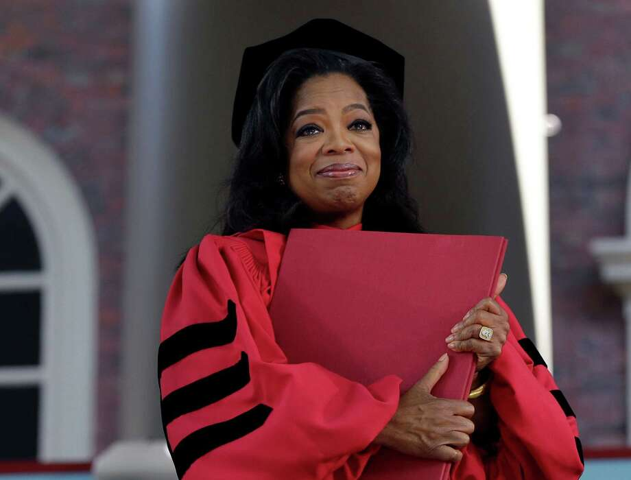 Oprah Winfrey received an honorary Doctor of Laws degree from Harvard University on Thursday. Photo: Elise Amendola, STF / AP