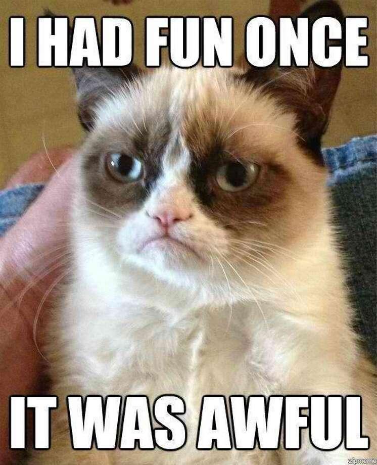 A famous Grumpy Cat meme.