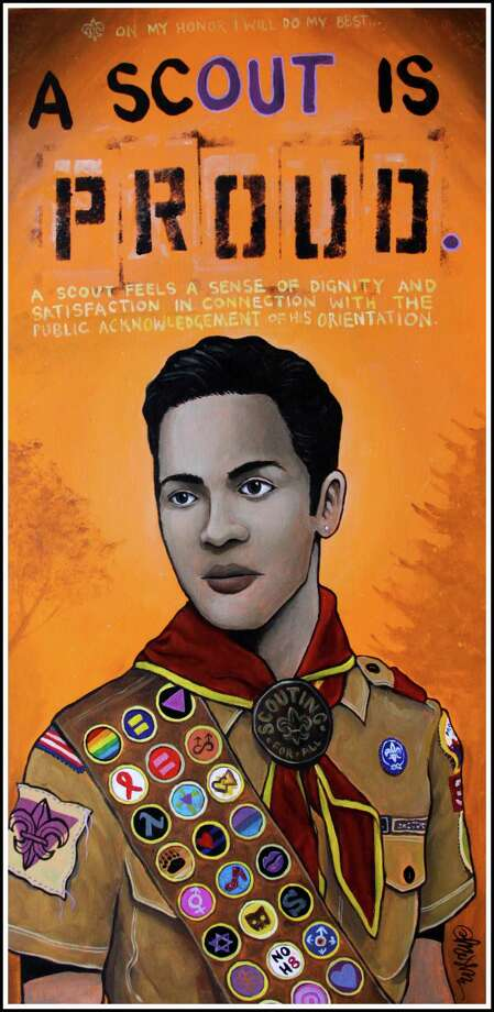"""A Scout is Proud,""  by Ricky Mestre, will be featured in the 2013 ""SameSex"" art show that opens Thursday, June 6, at City Lights Gallery in Bridgeport. Photo: Contributed Photo"