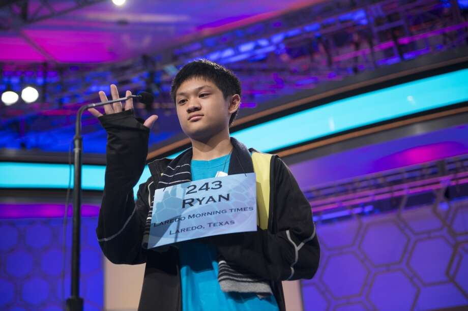Speller No. 243, Ryan Anthony Soriano, 14, eighth grader at Harmony Science Academy - Laredo, Laredo, Texas, competes in the preliminary rounds of the Scripps National Spelling Bee at the Gaylord National Resort and Convention Center in National Habor, Md., on Wednesday, May 29, 2013. Photo by Bill Clark